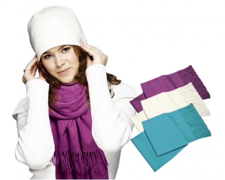 Luxusný pašmínový šál - fialová farba