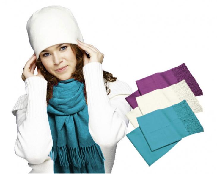 Luxusný pašmínový šál - tyrkysová farba